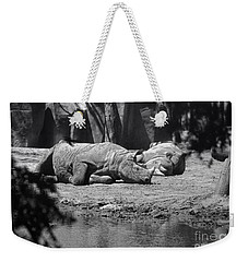Rhino Nap Time Weekender Tote Bag by Thomas Woolworth