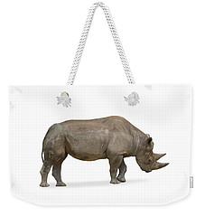 Weekender Tote Bag featuring the photograph Rhinoceros by Charles Beeler