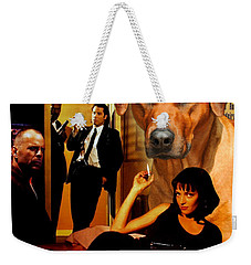 Rhodesian Ridgeback Art Canvas Print - Pulp Fiction Movie Poster Weekender Tote Bag
