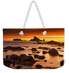 Rialto Beach Sunset Symphony Weekender Tote Bag by Mark Kiver