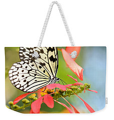 Rice Paper Butterfly In The Garden Weekender Tote Bag