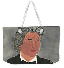 Weekender Tote Bag featuring the painting Richard Gere by Tracey Williams