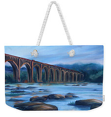Richmond Train Trestle Weekender Tote Bag by Donna Tuten