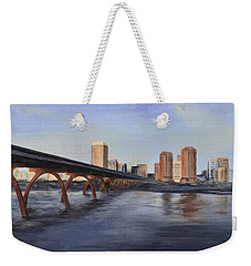 Richmond Virginia Skyline Weekender Tote Bag by Donna Tuten