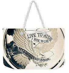 Ride To Live Weekender Tote Bag
