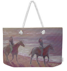 Riding Weekender Tote Bag