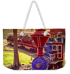 Riding Out Of The Sunset On The Hermann Park Train Weekender Tote Bag