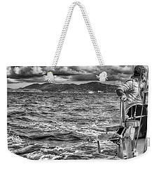 Weekender Tote Bag featuring the photograph Riding The Crest Of The Wave by Howard Salmon