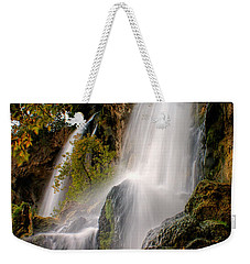 Weekender Tote Bag featuring the photograph Rifle Falls by Priscilla Burgers
