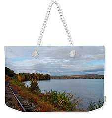 Right Side Of The Track Weekender Tote Bag by Mim White