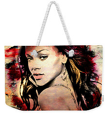 Rihanna Weekender Tote Bag by Mark Ashkenazi