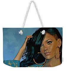 Rihanna Painting Weekender Tote Bag by Paul Meijering