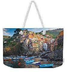 Riomaggiore Boats Weekender Tote Bag