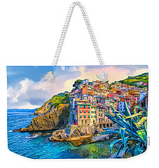 Riomaggiore Morning - Cinque Terre Weekender Tote Bag by Dominic Piperata