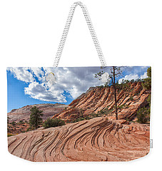 Weekender Tote Bag featuring the photograph Rippled Rock At Zion National Park by John M Bailey