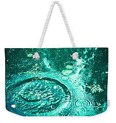 Weekender Tote Bag featuring the photograph Ripples by Jan Bickerton