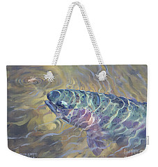 Rainbow Rising Weekender Tote Bag by Rob Corsetti
