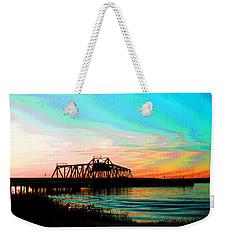Rising Sun On The Mokelumne River Weekender Tote Bag
