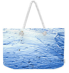 Weekender Tote Bag featuring the photograph River Blue by Robyn King