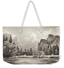 River Flowing Through A Forest, Merced Weekender Tote Bag by Panoramic Images