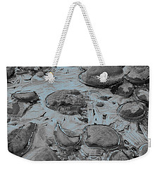River Ice Blue Weekender Tote Bag by Jeremy Rhoades