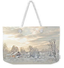 River Mist On A Very Cold New Hampshire Morning Weekender Tote Bag