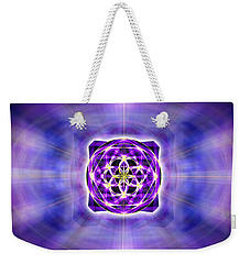 Weekender Tote Bag featuring the drawing River Of Ascended Light by Derek Gedney