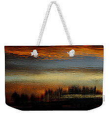Weekender Tote Bag featuring the photograph River Of Sky by Laura Fasulo