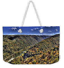 River Running Through A Valley Weekender Tote Bag by Jonny D