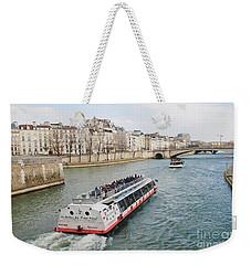 River Seine Excursion Boats Weekender Tote Bag