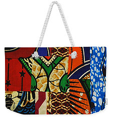 Weekender Tote Bag featuring the tapestry - textile Riverbank by Apanaki Temitayo M