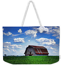 Riverbottom Barn Against The Sky Weekender Tote Bag by Cricket Hackmann