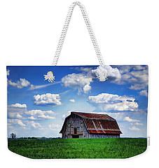 Riverbottom Barn Against The Sky Weekender Tote Bag