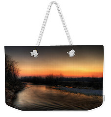 Riverscape At Sunset Weekender Tote Bag