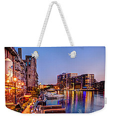 Riverwalk At Dusk Weekender Tote Bag