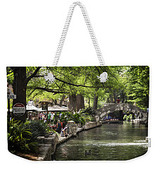 Weekender Tote Bag featuring the photograph Girl By The Water by Steven Sparks