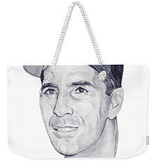 Weekender Tote Bag featuring the painting Rizzuto by Tamir Barkan