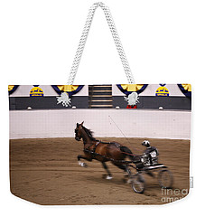 Weekender Tote Bag featuring the photograph Road Pony At Speed by Carol Lynn Coronios