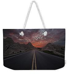 Road To Nowhere Badlands Weekender Tote Bag