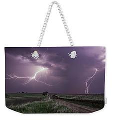 Road To Nowhere - Lightning Weekender Tote Bag