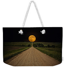 Road To Nowhere - Supermoon Weekender Tote Bag by Aaron J Groen
