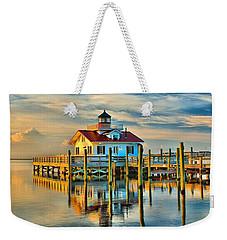 Roanoke Marsh Lighthouse Dawn Weekender Tote Bag