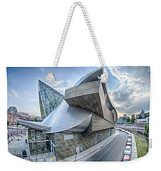 Roanoke Virginia City Skyline In The Mountain Valley Of Appalach Weekender Tote Bag by Alex Grichenko