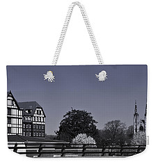 Roanoke Virginia Springtime Cityscape Bw Weekender Tote Bag