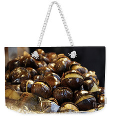 Weekender Tote Bag featuring the photograph Roasted Chestnuts by Lilliana Mendez