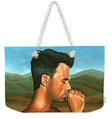 Robbie Williams 2 Weekender Tote Bag by Paul Meijering