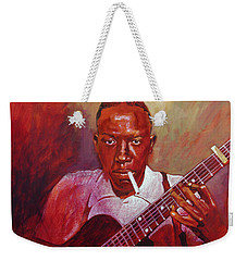 Robert Johnson Photo Booth Portrait Weekender Tote Bag