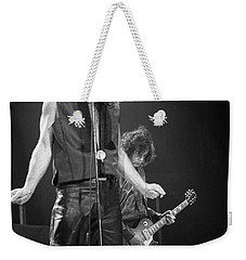 Robert Plant And Jimmy Page Weekender Tote Bag by Timothy Bischoff