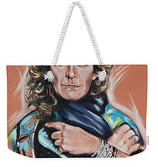 Robert Plant Weekender Tote Bag by Melanie D
