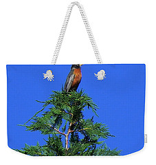 Robin Christmas Tree Topper Weekender Tote Bag